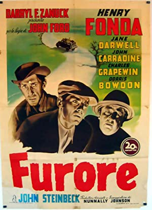 THE GRAPES OF WRATH MOVIE POSTER/FURORE/POSTER