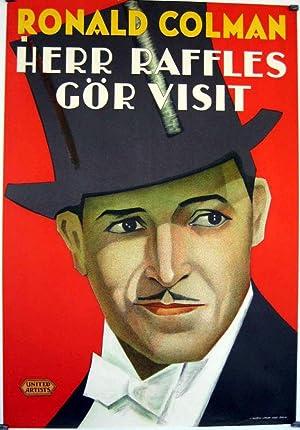 MOVIE POSTER/ RAFFLES/ RONALD COLMAN/ 1930/ GEORGE