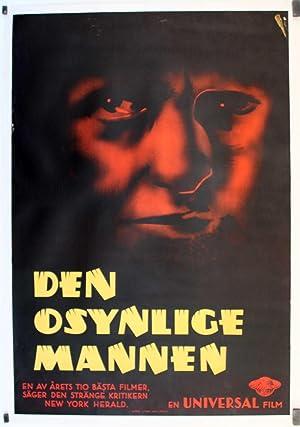 THE INVISIBLE MAN MOVIE POSTER/DEN OSYNLIGE MANNEN,/POSTER
