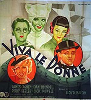 FOOTLIGHT PARADE MOVIE POSTER/VIVA LE DONNE/POSTER