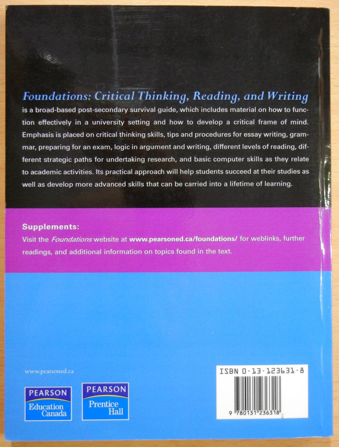 foundations critical thinking reading and writing second   foundations critical thinking reading and writing second edition shea