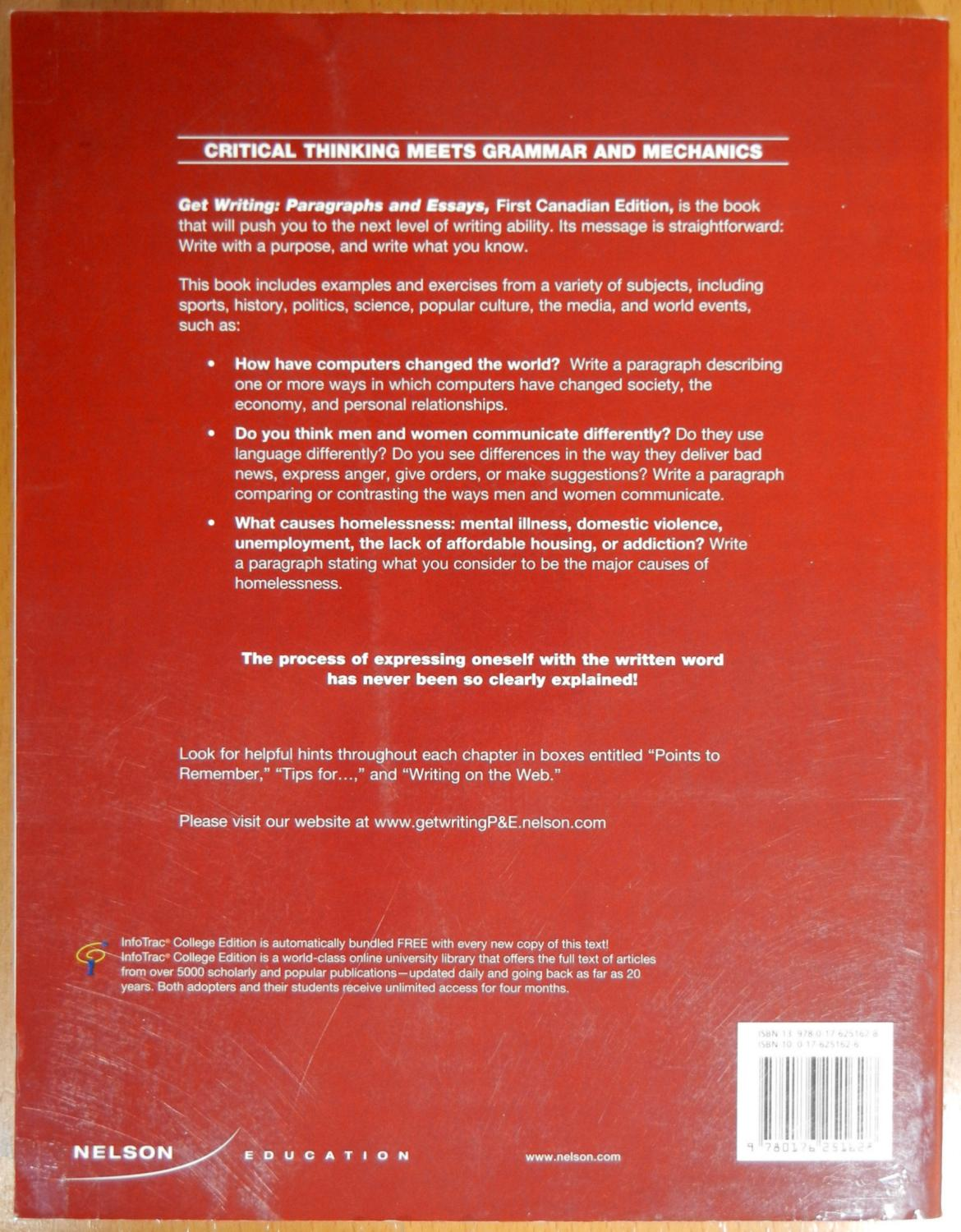 Get Writing: Paragraphs and Essays (First Canadian Edition