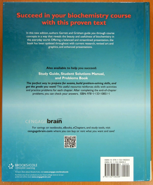 ... Biochemistry (Fifth Edition): Garrett, Reginald H.; Grisham, Charles M