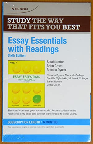essay writing skills with readings sixth canadian edition Writing first with readings: paragraphs  readings: paragraphs and essays sixth edition  their writing skills: visual writing prompts open .