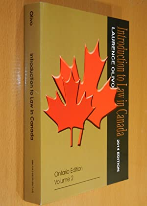 Introduction to Law in Canada (Ontario Edition,: Olivo, Laurence M.