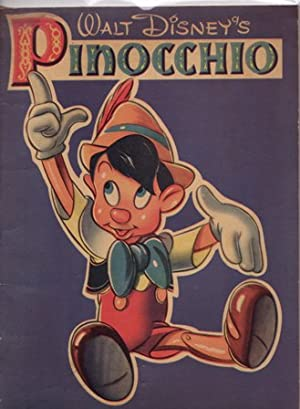 Walt Disney's Version of Pinocchio with Pictures to Color