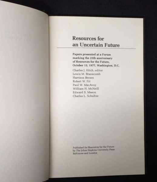 Resources for an Uncertain Future  Papers