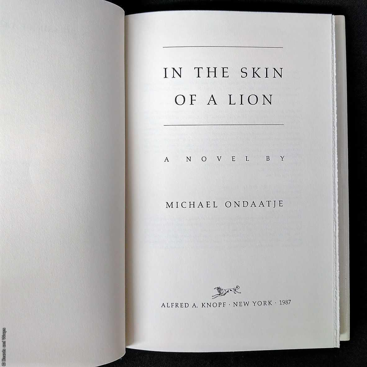 micheal ondaatjes in the skin of Complete summary of michael ondaatje's in the skin of a lion enotes plot  summaries cover all the significant action of in the skin of a lion.