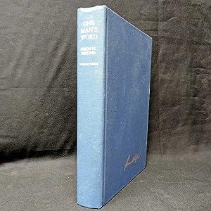 One Man's Word: Selected Works of Simon: Rifkin, Simon H.;