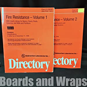 Fire Resistance Directory 1999 2 vols