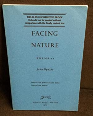 Facing Nature (Uncorrected Proof): Updike, John