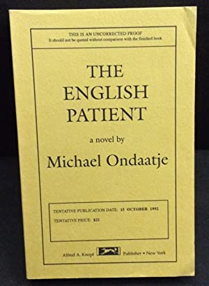 The English Patient (Uncorrected Proof): Ondaatje, Michael