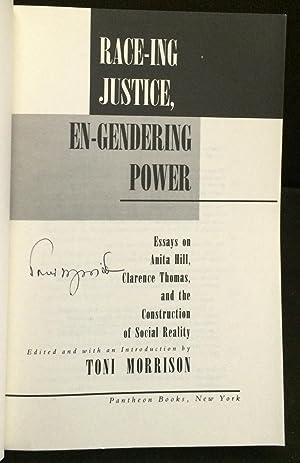 Race-ing Justice, En-Gendering Power (Signed): Toni Morrison