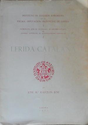 LERIDA CATALANA: RAZQUIN JENE JOSE MARIA