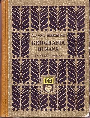 Geografía Humana: A.J. Herbertson. F.D. Herbertson