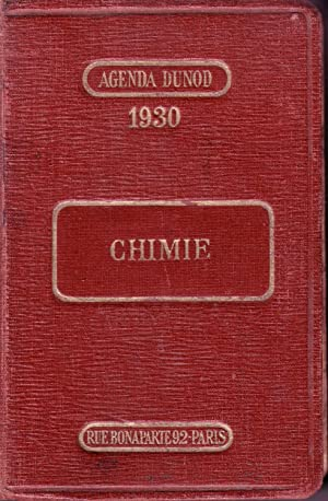 CHIMIE Agenda Dunod 1930