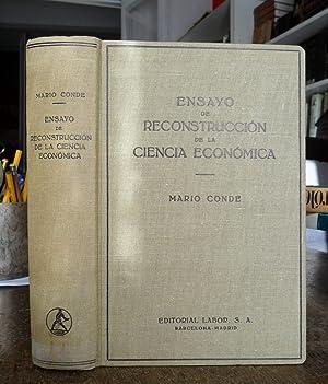 ENSAYO DE RECONSTRUCCIÓN DE LA CIENCIA ECONÓMICA: CONDE MARIO