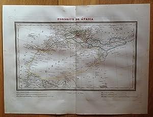 Mapa NORDESTE DE ÁFRICA Tardieu, Alabern. Impreso: Tardieu