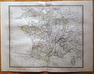 Mapa LAS GALIAS Tardieu, Alambern. Impreso En: Tardieu