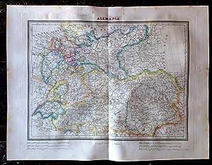 Mapa Calcográfico ALEMANIA Grabado Por Ramón Alabern: Ramón Alabern. Tardieu.