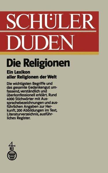 Duden) Schülerduden, Die Religionen: Lanczkowski, Günter: