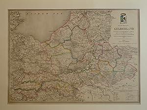 Kaart van de Provincie Gelderland.: Gelderland.
