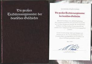 Die großen Traditionsregimenter der deutschen Geschichte Herausgeber: Franklin Mint: