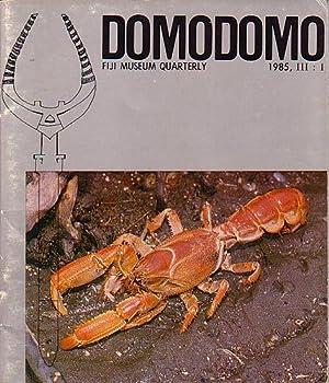 DOMODOMO - Fiji Museum Quarterly - 1985: CLUNIE, Fergus (editor)