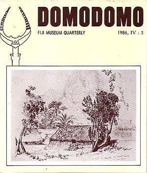 DOMODOMO - Fiji Museum Quarterly - 1986: CLUNIE, Fergus (editor)