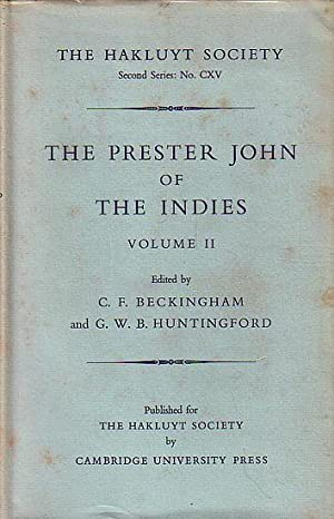 THE PRESTER JOHN OF THE INDIES -: BECKINGHAM, C. F.