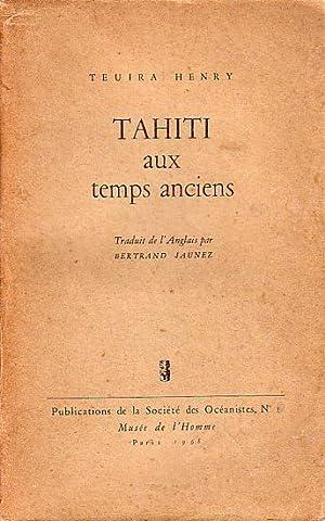 TAHITI AUX TEMPS ANCIENS: HENRY, Teuira