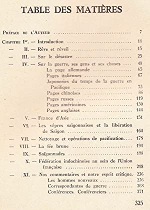 Rancunes, Autour de la tragédie franco-indochinoise, Colonies, Asie: Arnaud, Barthouet