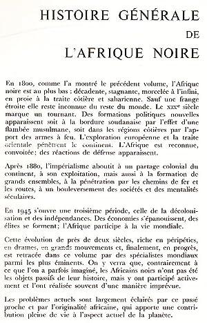 Histoire Générale de l'Afrique Noire de Madasgascar et des Archipels, Histoire ...