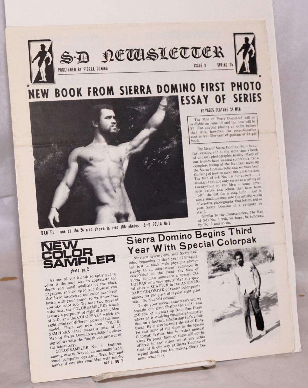 S. D. newsletter [Sierra Domino Newsletter] no. 3; Spring 1975 Sierra Domino Studio, Craig Calvin Anderson Softcover