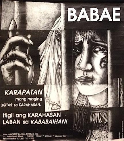 Babae / Karapatan mong maging ligtas sa karahasan. Itigil ang karahasan laban sa kababaihan! [...