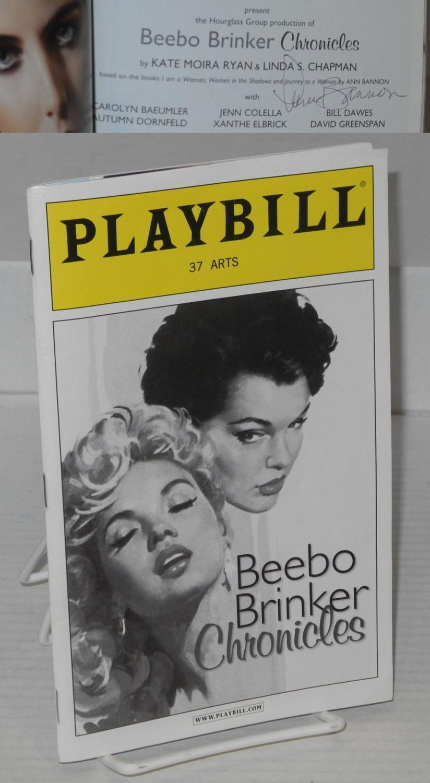 The Beebo Brinker chronicles [Playbill] signed by Ann Bannon: Bannon, Ann [Aka A. Bannon, Ann ...