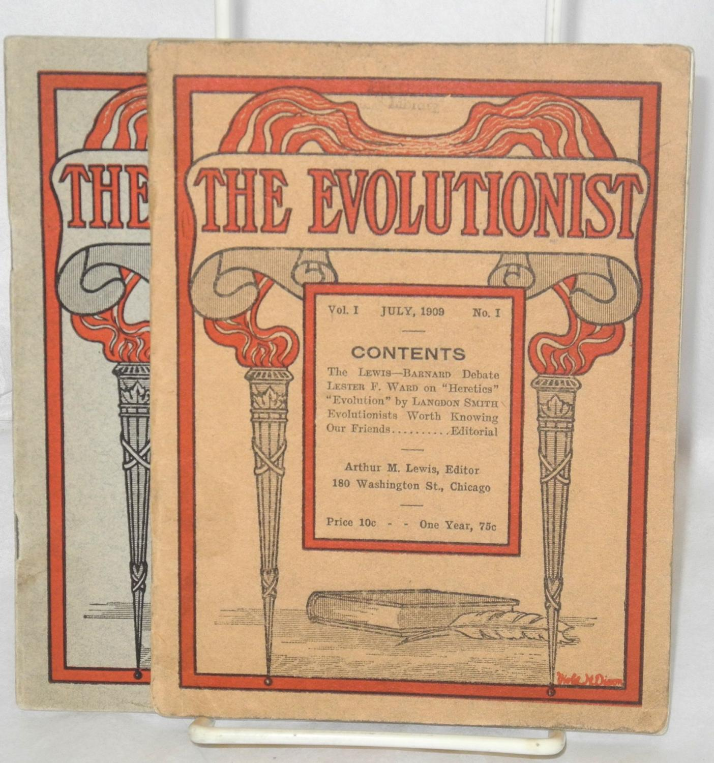 The evolutionist. Vol. I no. 1, July, 1909 and vol. 1, no ...