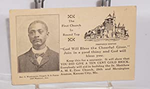 Donation card]: St. Matthew A. M. E. Zion Church