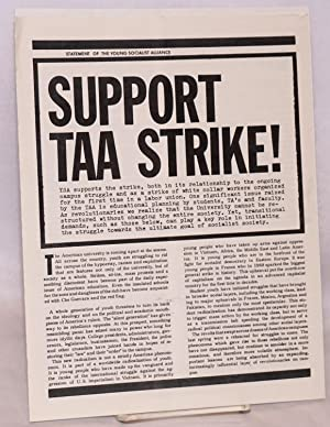 Support TAA strike!: Young Socialist Alliance