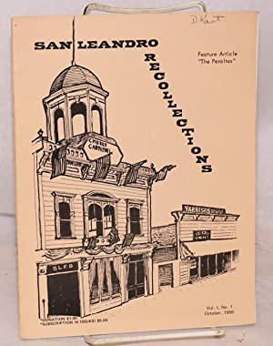 """The Peraltas; in San Leandro """"Recollections"""", October 1969, volume 1, number 1: Shaffer, ..."""