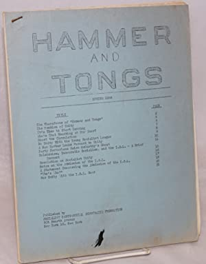 Hammer and Tongs. Spring 1958: Socialist Party - Social Democratic Federation