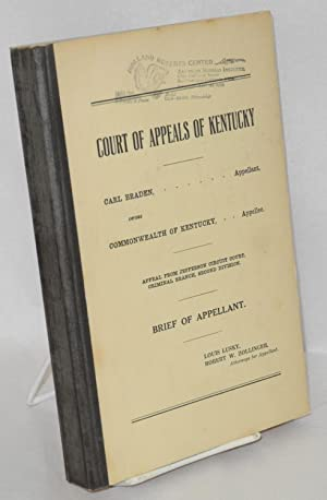 Carl Braden, appellant, versus Commonwealth of Kentucky, appellee. Appeal from Jefferson Circuit ...