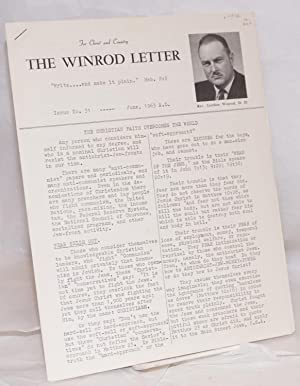 The Winrod letter,; for christ and country; issue no. 31 -- June, 1963 A.D.: Winrod, Rev. Gordon