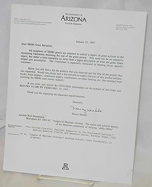 Letter to SBSRI Grant recipient: Rios-Bustamante, Antonio, Nancy