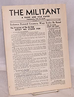 The militant, a rank and file paper. Vol. 1, no. 1, December, 1940