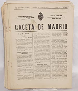 Gaceta de Madrid [17 issues]