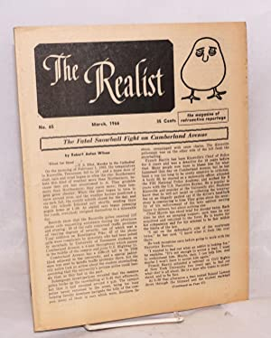 The realist [no.65], March 1966. The magazine of retroactive reportage: Krassner, Paul, ed