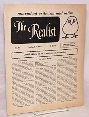 The Realist [no.62], Nonviolent Criticism and Satire. September 1965. The magazine of Louisiana ...