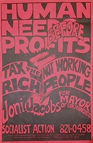 Human needs before profits; tax the rich: Joni Jacobs for