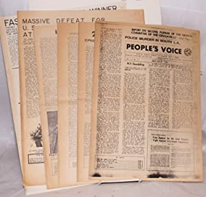 People's Voice [nine issues of the newspaper]: Communist Party of the United States of America...